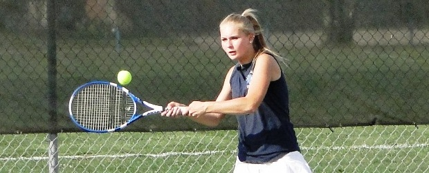 Lindsay Brindack Louisville Lady Leopards Tennis 2012 Vs. Alliance