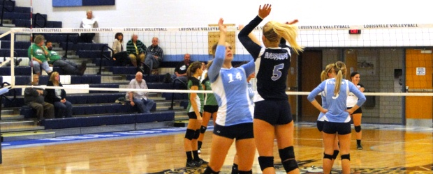 Mackenzie Begue & Ashton Ruffing Louisville Lady Leopards Volleyball 2012
