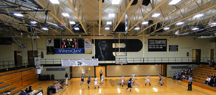 Perry Panthers Gym Basketball High School