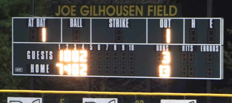 Joe Gilhousen Field Scoreboard GlenOak Golden Eagles Baseball