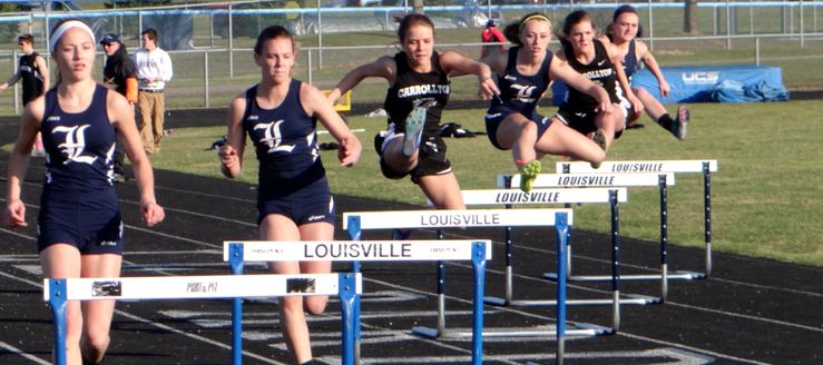 Louisville Leopards Track Hurdles
