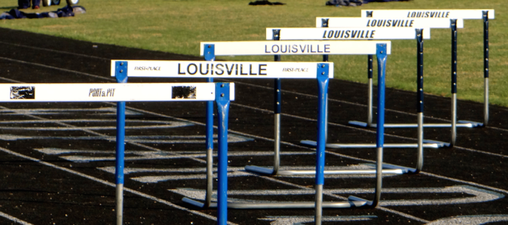 Louisville Leopards Track & Field Hurdles