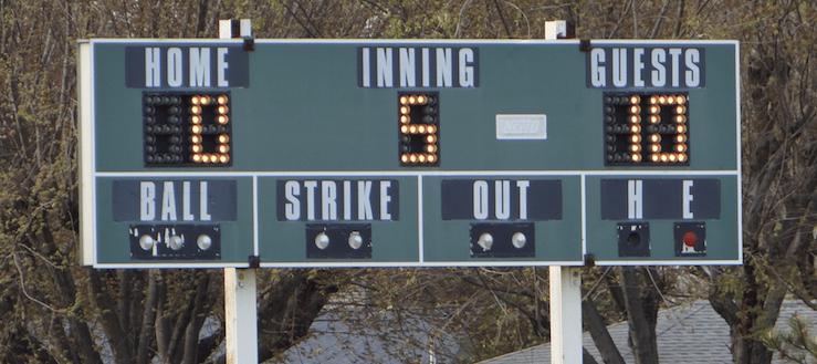 Louisville Leopards Varsity Baseball Scoreboard