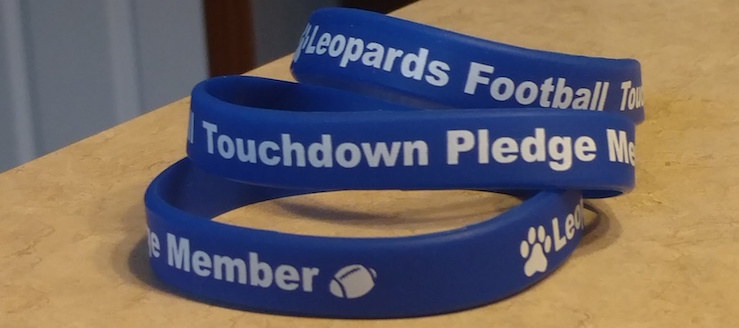 Louisville Leopards Touchdown Pledge 2016 Wristband