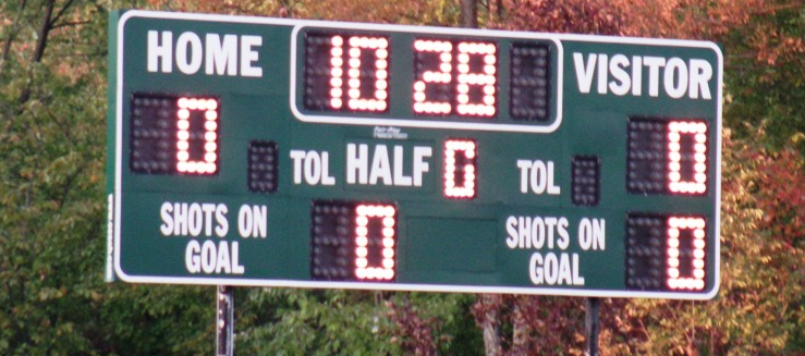 West Branch Warriors Soccer Stadium Scoreboard