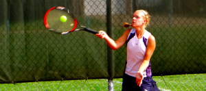 Girls Tennis Edges Canton South to Clinch League Share
