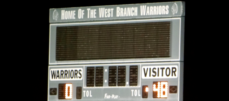 West Branch Warriors Football Scoreboard