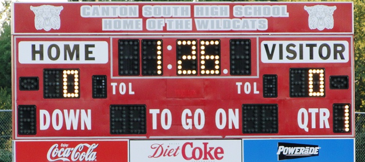Canton South Wildcats Football Scoreboard