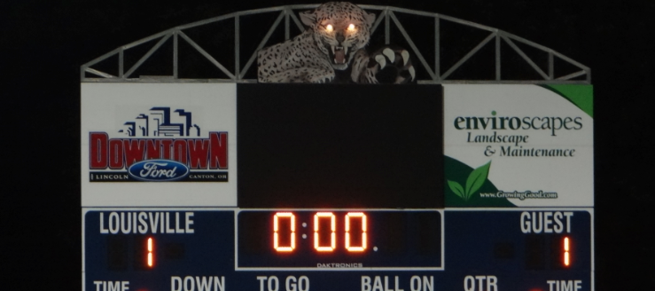 Louisville Leopards Scoreboard Leopard Eyes