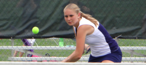 Girls Tennis Blanks Perry to Finish With Winning Non-Conference Record