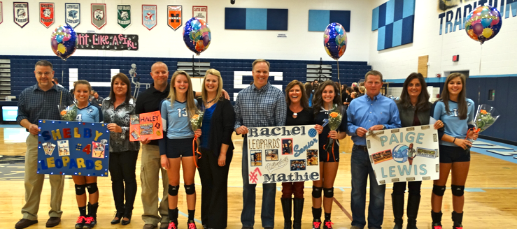 Louisville Lady Leopards Volleyball Senior Night 2014