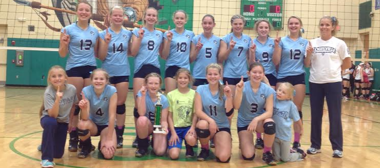 Louisville Lady Leopards 8th Grade Volleyball NBC Champions 2014