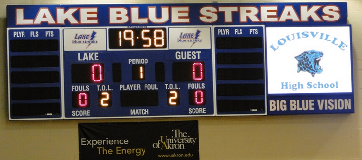 Lake Blue Streaks Gym Scoreboard Big Blue Vision