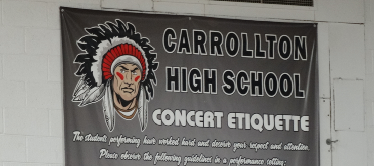 Carrollton Warriors Concert Etiquette Gym Poster