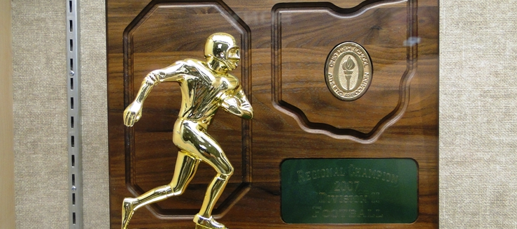 Louisville Leopards Football 2007 Regional Championship Trophy Plaque