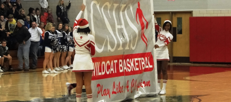 Canton South Wildcats Basketball Cheerleader Banner