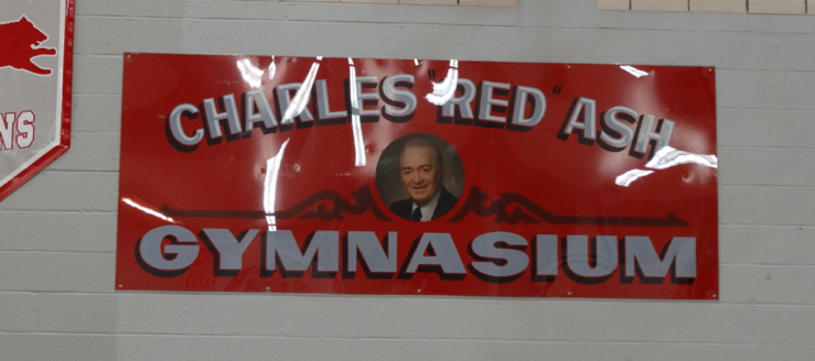Charles Red Ash Gymnasium Banner Canton South Wildcats
