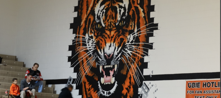 Massillon Tigers Gym Painting 2014 Basketball