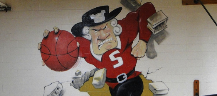 Salem Quakers Basketball Wall Painting John A. Cabas Gymnasium