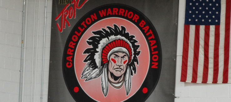 Carrollton Warrior Battalion Banner in Gym