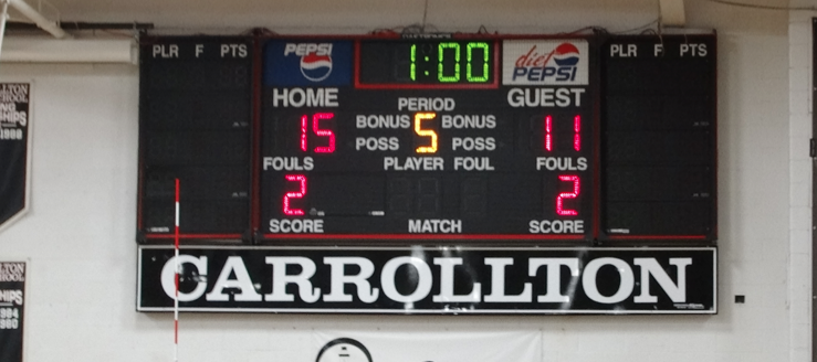 Carrollton Warriors Gym Scoreboard