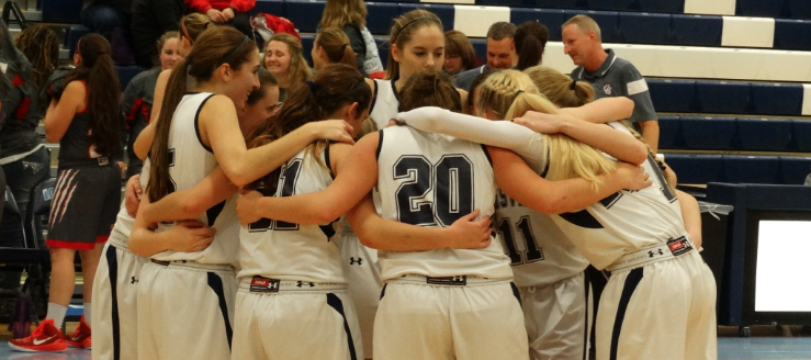 Louisville Lady Leopards Varsity Basketball Huddle 2015 Vs. Canton South