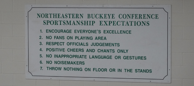 Northeastern Buckeye Conference Sportsmanship Expectations West Branch Warriors Gym