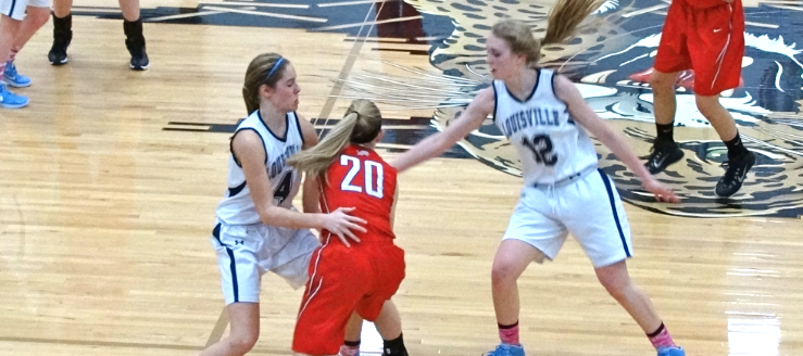 Sarah Lairson & Alexa Oberster Louisville Lady Leopards Vs. Minerva Lions Girls Basketball