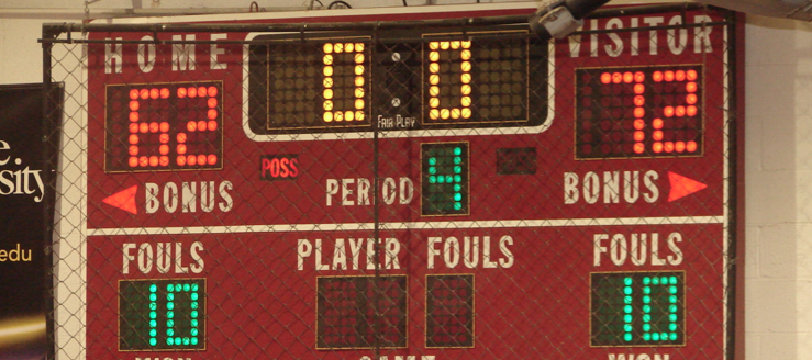 Northwest Indians Scoreboard in Basketball Gym