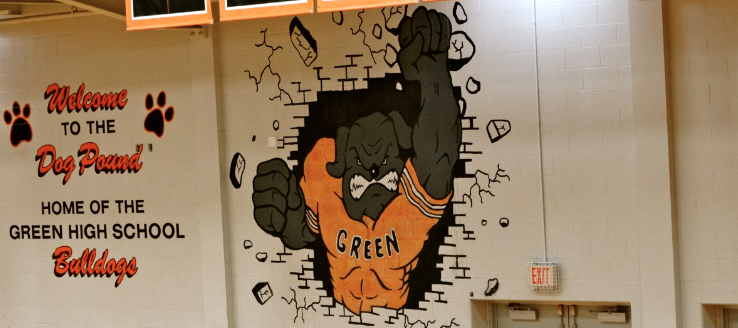 The Dog Pound Green Bulldogs Gym Painting