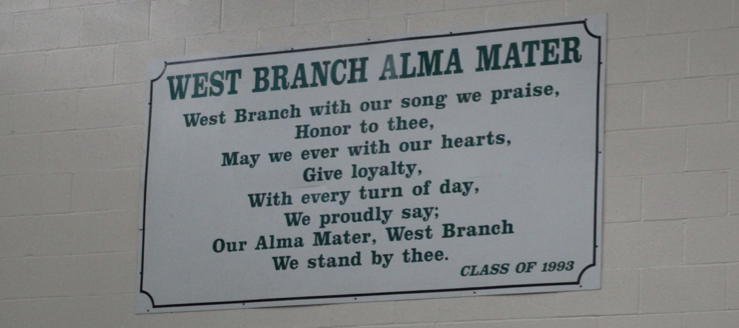 West Branch Warriors High School Alma Mater Gym