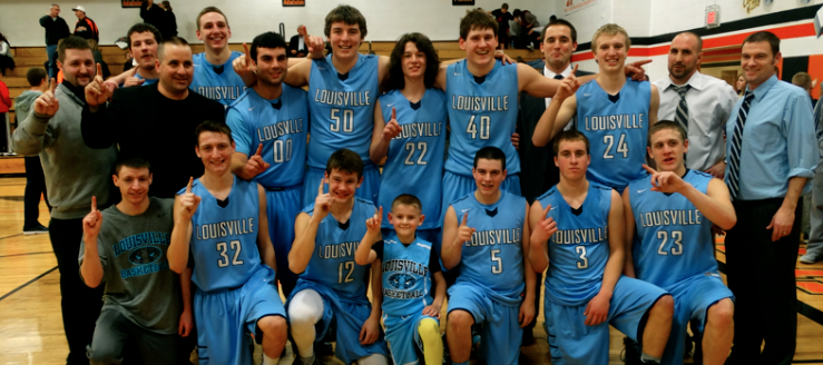Louisville Leopards Boys Basketball Outright NBC Champions 2014-15