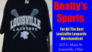 Beatty's Sports Louisville Leopards Lacrosse Blue Shirt 2015