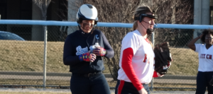Softball Rallies in Last Bat to Force Scrimmage Tie With Fitch