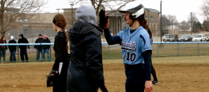 Softball Downs Cross-Town Aquinas in Scrimmage