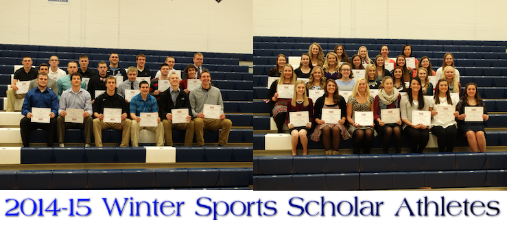 Louisville Leopards Winter Sports Scholar Athletes 2014-15