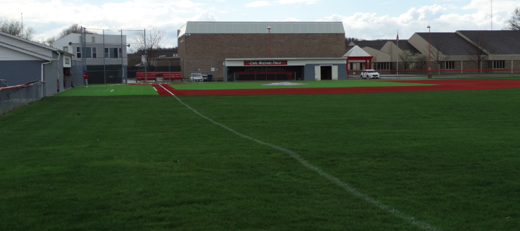 Carl Michael Field Minerva Lions Baseball Right Field View