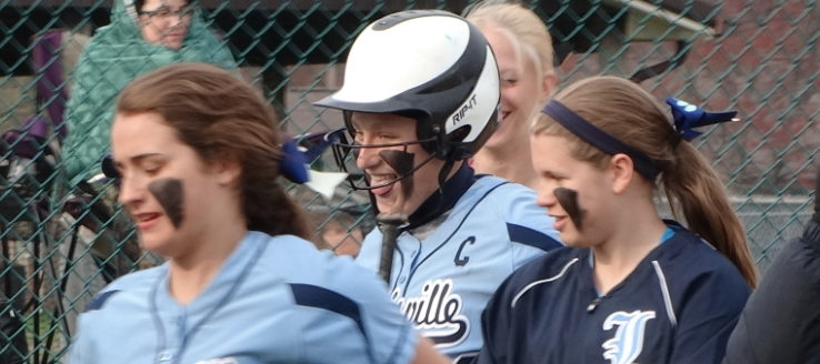 Katie Cozy Louisville Leopards Softball Home Run Queen
