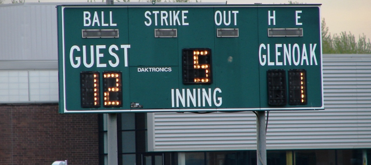GlenOak Golden Eagles Softball Scoreboard
