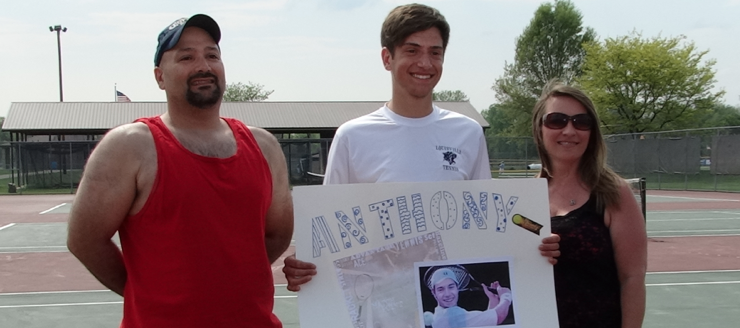 Anthony Granitsas Louisville Leopards Boys Tennis Senior Night 2015