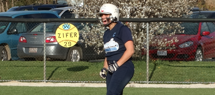 Kylie Zifer Louisville Leopards Softball Vs. Hudson