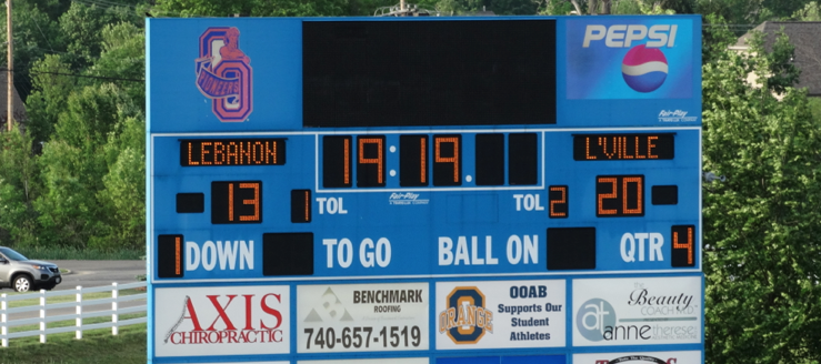 Olentangy Orange Pioneers Football Scoreboard