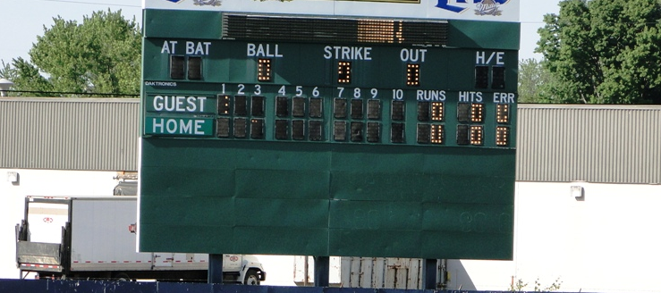 Thurman Munson Memorial Stadium Scoreboard