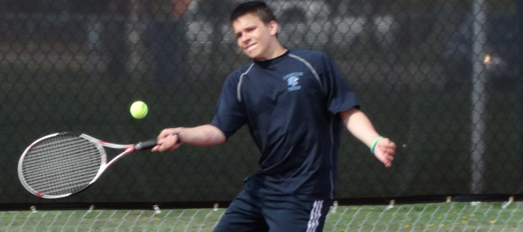 Zach Eddins Louisville Leopards Tennis 2015 Vs. Salem