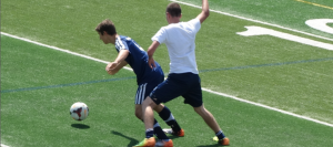 Boys Soccer Rallies Back to Force Alumni Game Draw