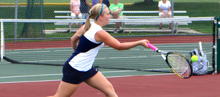 Jozie Scott Louisville Leopards Girls Tennis 2014 Vs. GlenOak