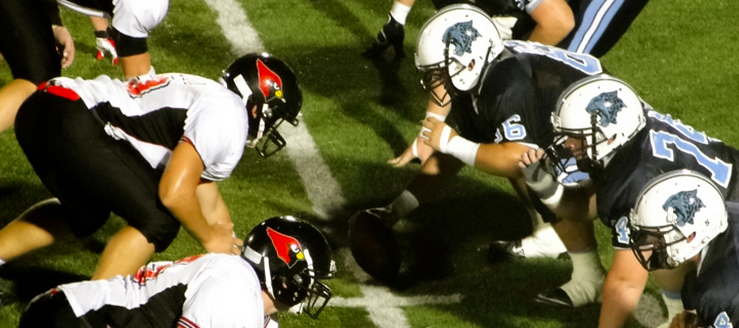 Louisville Leopards Vs. Canfield Cardinals in the trenches 2013