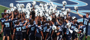Football Thrashes Canfield 40-14 in Opener