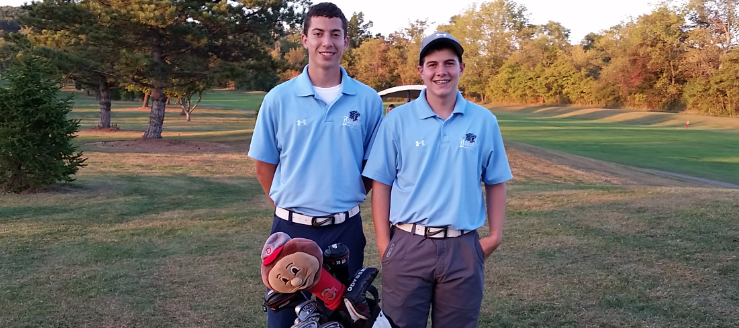 Cameron Prasco and Matt Eddins Louisville Leopards Golf Career Lows at Carroll Meadows