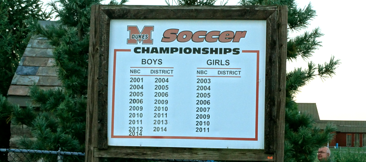 Marlington Dukes Soccer Championships Sign